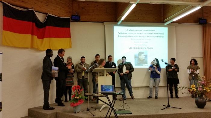 Vertreter der Stadtspartnerschaft Solingen - Matagalga - Thies - Tarragona in Solingen Nov 2014